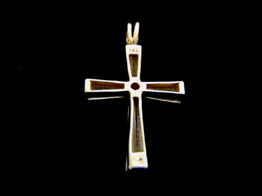 Vintage Estate 14K Yellow Gold Religious Cross Pendant - 2
