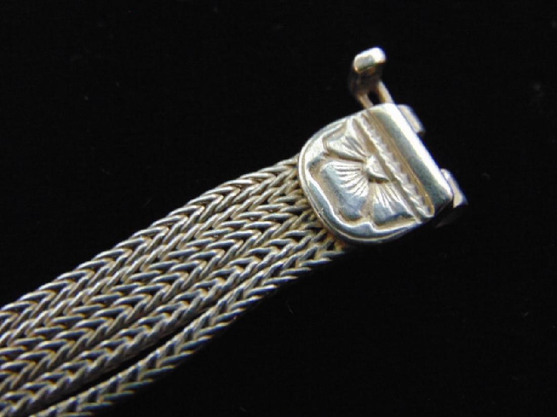 Vintage Estate Sterling Silver Baltic Amber Bracelet - 4