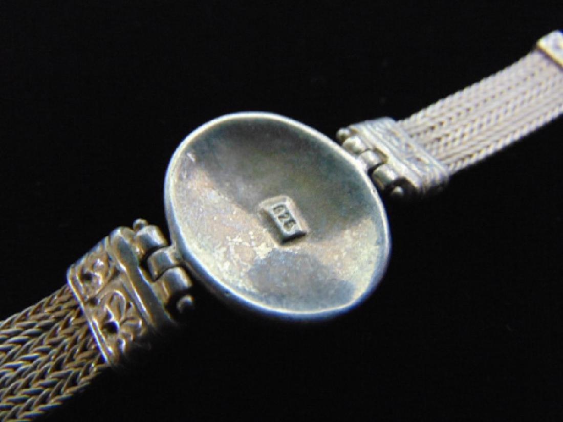 Vintage Estate Sterling Silver Baltic Amber Bracelet - 6