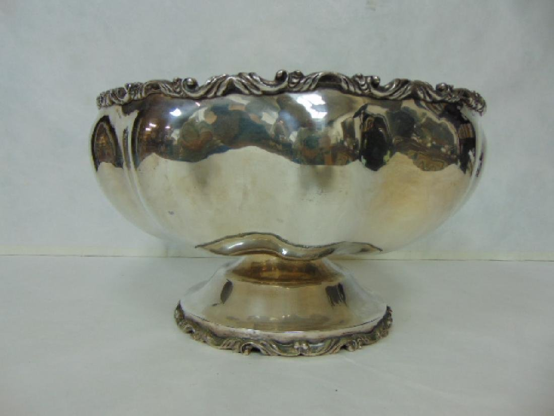 ANTIQUE .950 STERLING SILVER PUNCH BOWL - 2