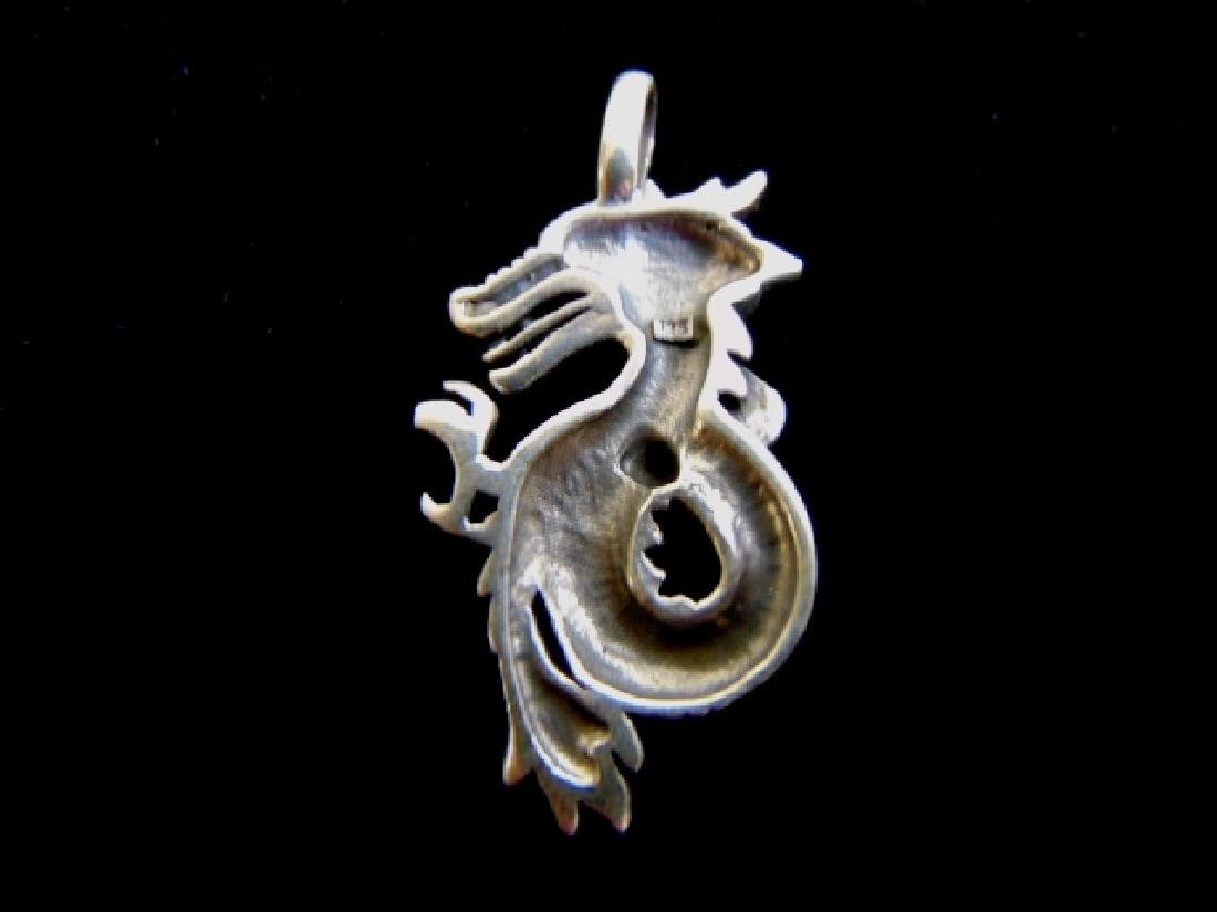 Sterling Silver Chinese Dragon Pendant - 2