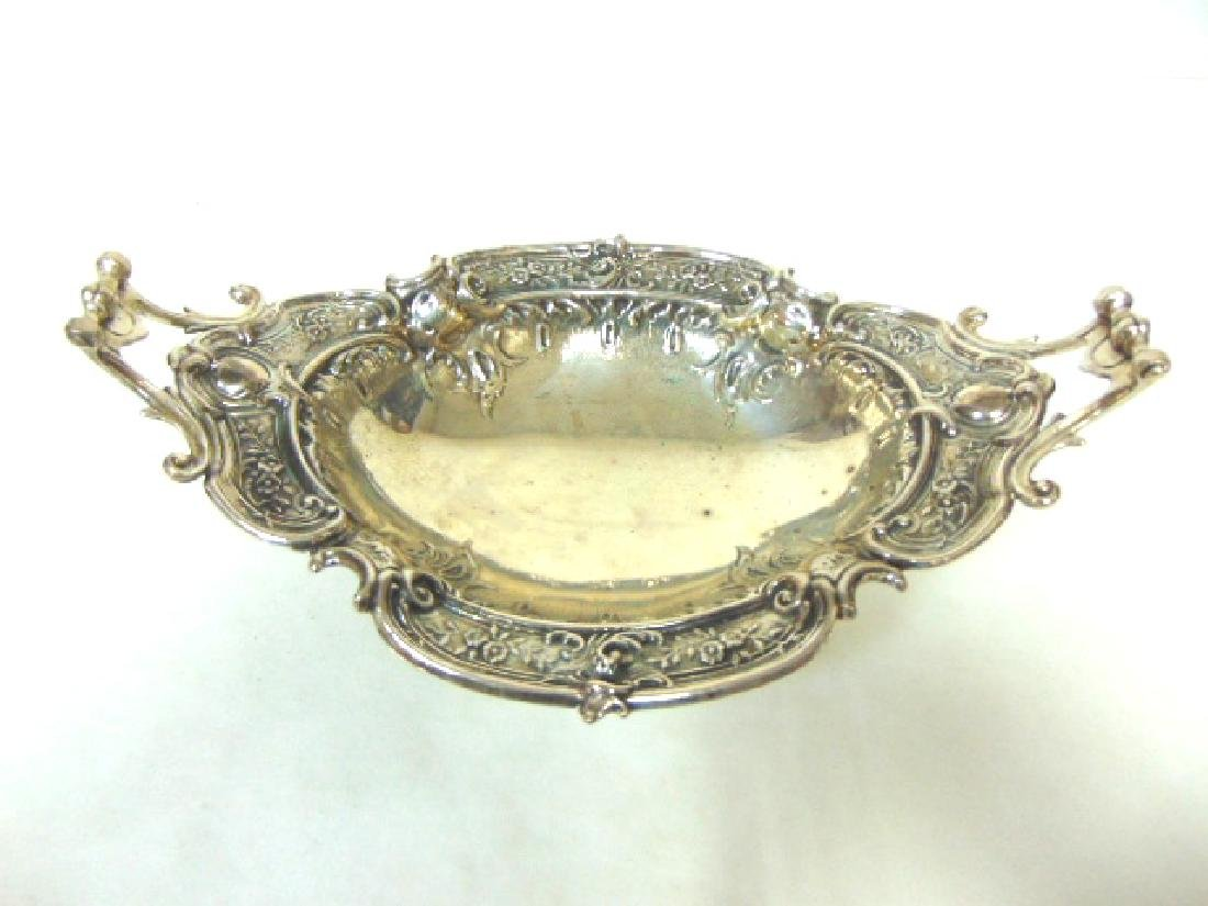 VINTAGE ANTIQUE ART NOUVEAU ORNATE SILVERPLATE DISH
