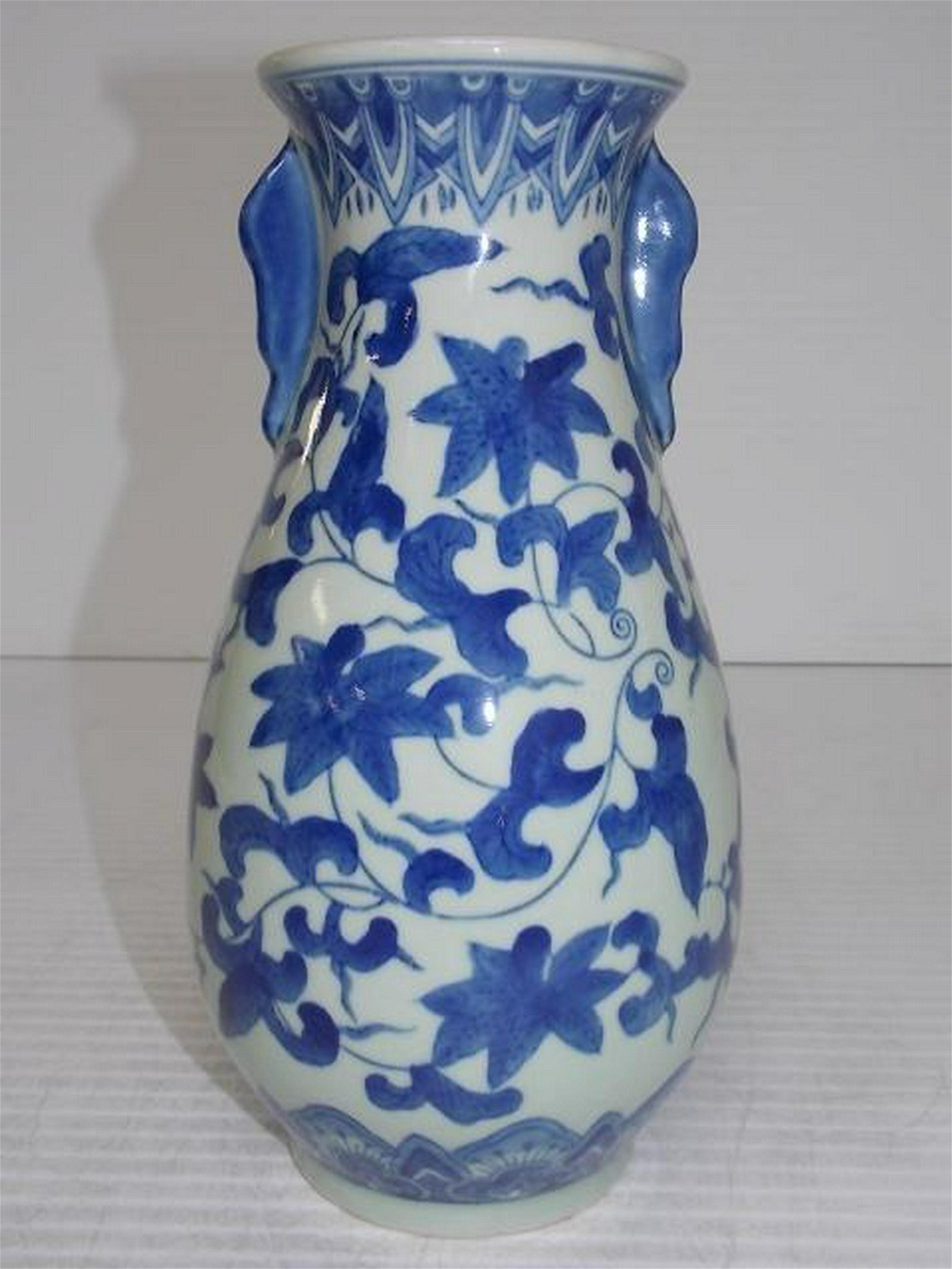 Decorative Chinese Blue & White Vase