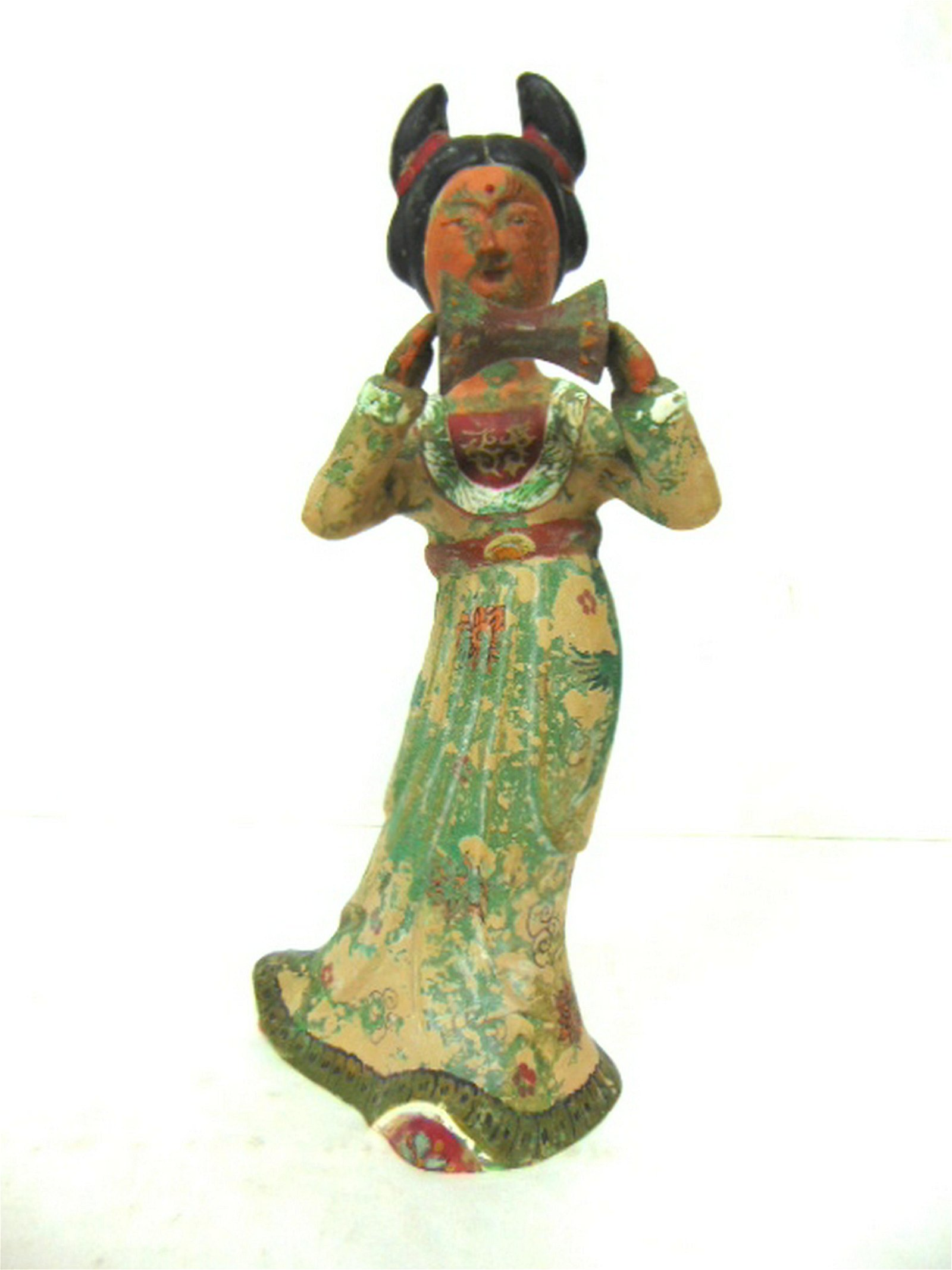 VINTAGE HAND PAINTED CHINESE MUSICIAN FIGURE
