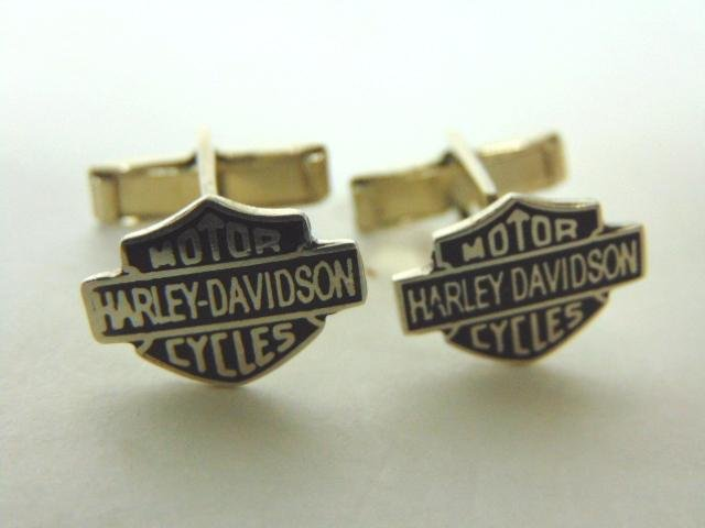 Sterling Silver Harley Davidson Motorcycle Cuff Links