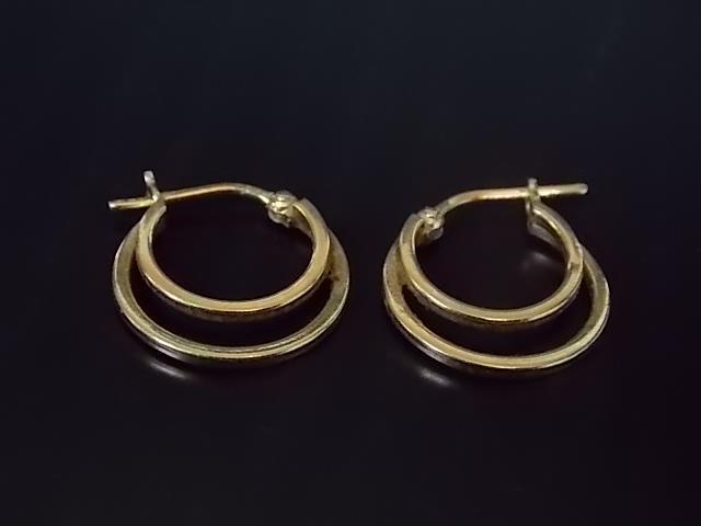 Vintage Estate 14K Yellow Gold Hoop Earrings 1.6g