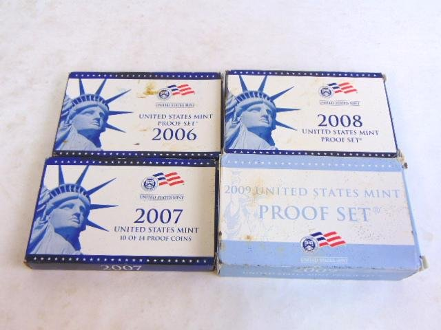 LOT OF 4 COLLECTIBLE U.S MINT PROOF SETS