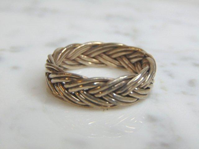 Mens Vintage Estate Sterling Silver Band Ring