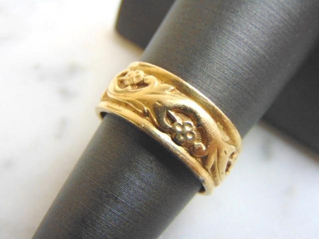 Mens Vintage Estate 14K Gold Wedding Band Ring 7.3g