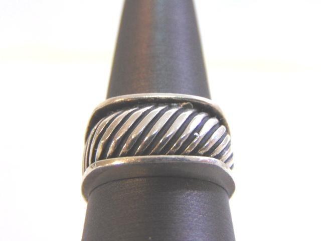 Impressive Vintage Estate Sterling Silver Band Ring
