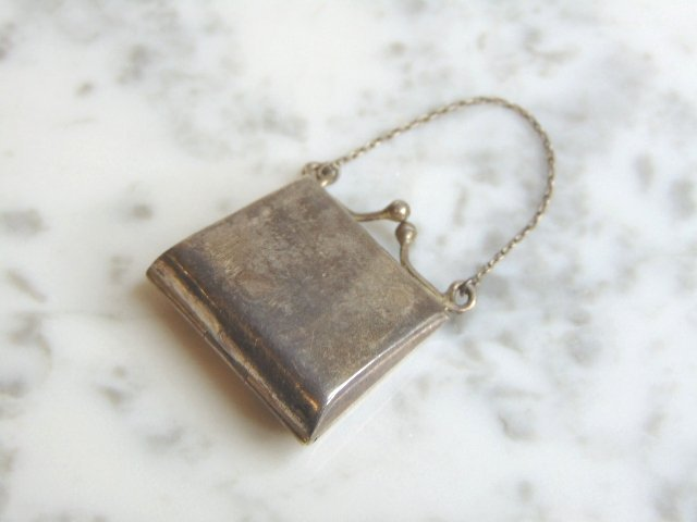 Vintage Antique Sterling Silver Change Purse Pill Box