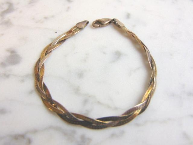 Vintage Estate Sterling Silver Italian Braided Bracelet