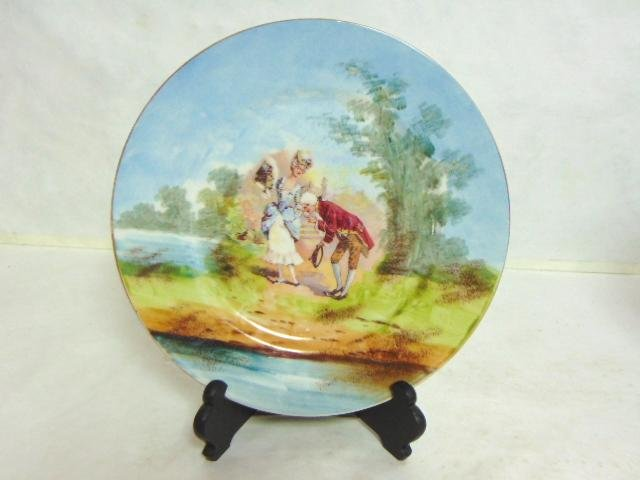 ANTIQUE FRENCH LIMOGES HAND PAINTED PORCELAIN PLATE