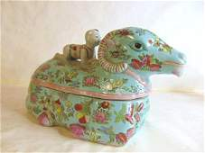 VINTAGE CHINESE RAMS HEAD SOUP TUREEN