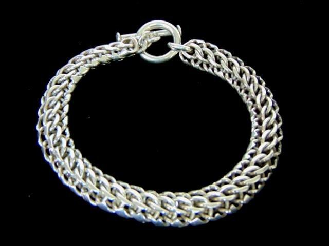 Vintage Estate Heavy Sterling Silver Bracelet