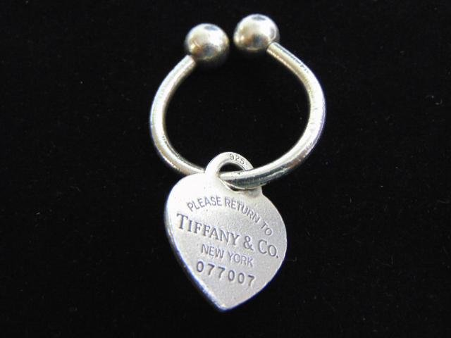 Vintage Tiffany & Co Sterling Silver Heart Key Chain