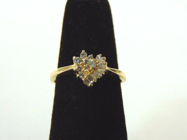 Women's Vintage Estate 14K Gold Cluster Diamond Ring