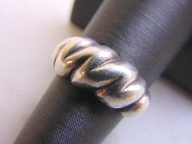 Womens Vintage Estate Sterling Silver Modernist Ring