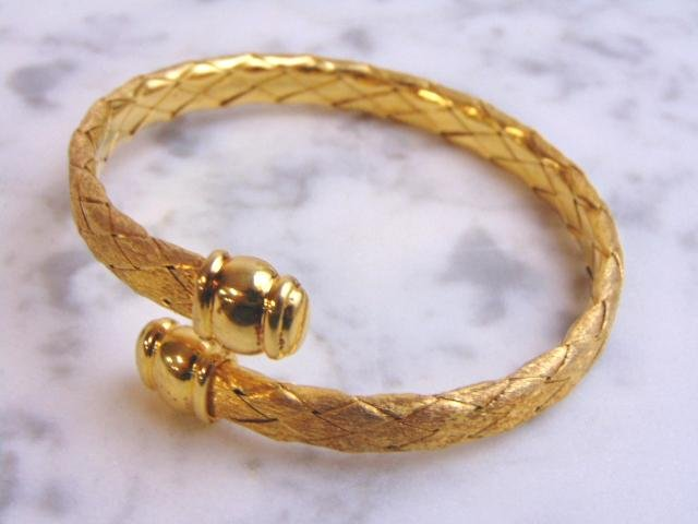 Womens Sterling Silver Gold Tone Italian Bracelet