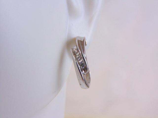 Vintage Estate Sterling Silver Earrings w/ CZ Stones