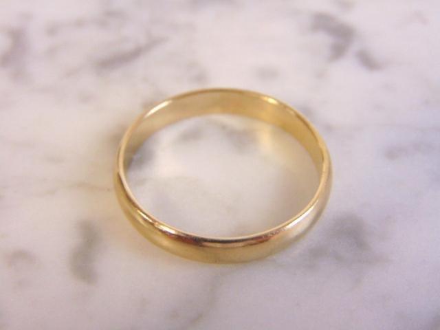Mens Vintage Estate 10k Yellow Gold Wedding Band Ring