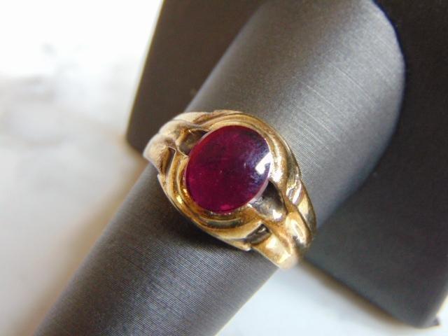 Womens Vintage Estate 10k Yellow Gold Ring w/ Garnet