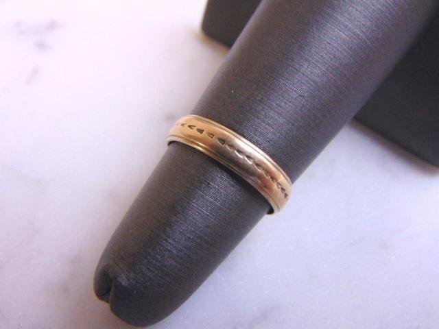 Womens Vintage Estate 14k Yellow Gold Band Ring