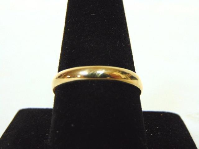 Vintage Estate 14k Yellow Gold Wedding Band Ring