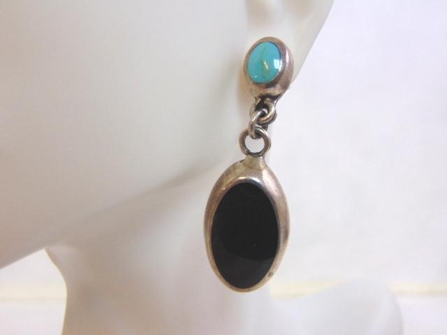 Sterling Silver Dangle Earrings w/ Turquoise