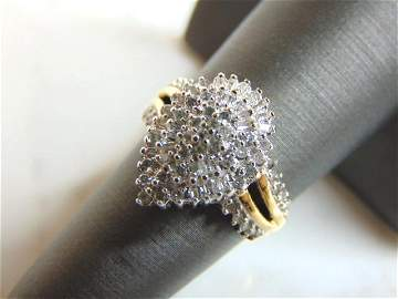Womens Vintage Estate 10K Yellow Gold Diamond Ring