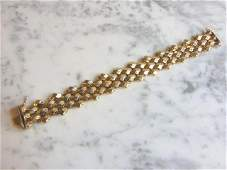 Womens Elegant Vintage Estate 14K Yellow Gold Bracelet
