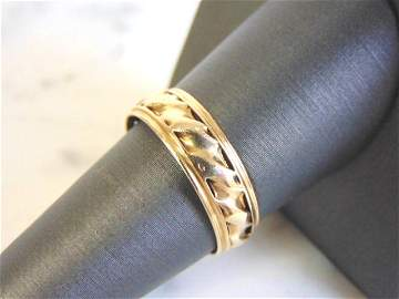 Vintage Estate 14K Yellow Gold Wedding Band Ring