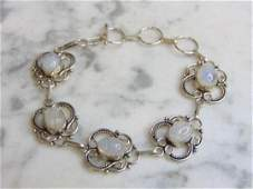 Womens Vintage Estate Sterling Silver Bracelet