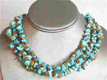 Womens Vintage Estate Turquoise & Tiger