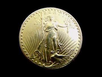 Antique Estate Find 1927 U.S. $20 Gold St. Gaudens Coin