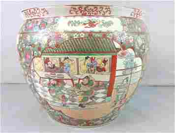 Decorative Chinese Porcelain Rose Medallion Planter