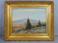 ANTIQUE OIL ON BOARD LANDSCAPE PAINTING J. SCOTT
