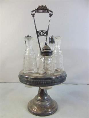 Victorian Cruet Set By Meriden Silverplate Co.