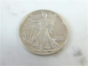 Antique 1941-S Walking Liberty Half Dollar Coin