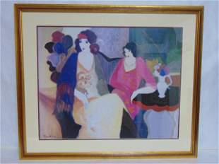 Decorative Itzchak Tarkay Art Deco Print w/ Frame