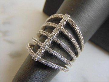 Women's 14K White Gold Diamond Ring