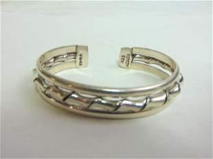 Vintage Estate Sterling Silver Cuff Bracelet