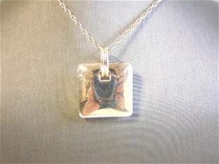 Womens Vintage Sterling Silver Necklace w/ Pendant
