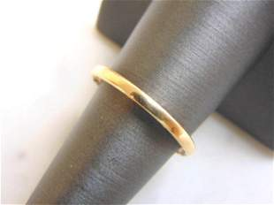 Retired Womens 14k Gold Pandora Wedding Ring Band