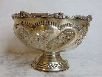 Vintage Antique .800 Silver Filigree Bowl