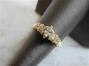 Womens Vintage Estate 14k Gold Diamond Ring