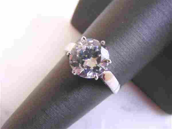 Womens Vintage Estate Sterling Silver Ring w/ CZ Stone