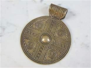 Silver Egyptian Arab Pendant w/ Lotus Flower Mark