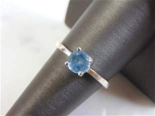 Womens Vintage Estate Sterling Silver Aquamarine Ring