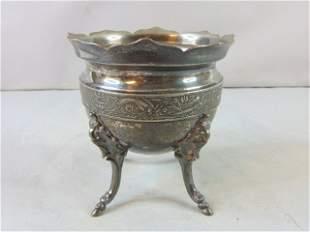 Victorian Antique Esthetic Silver Plated Sugar Bowl